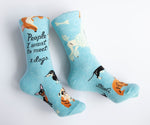 People I Want To Meet: Dogs - Blue Q Women's Crew Socks
