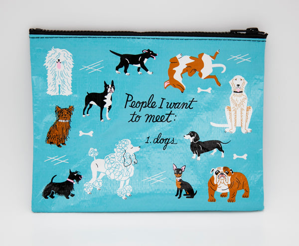 People I Want To Meet: Dogs - Blue Q Zipper Pouch
