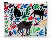 Here Kitty - Blue Q Zipper Pouch