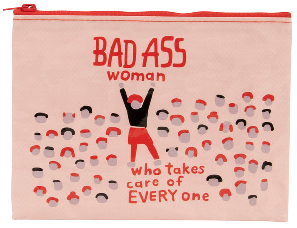 Bad Ass Woman - Blue Q Zipper Pouch