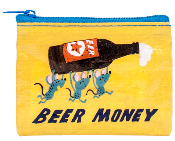 Beer Money - Blue Q Coin Purse