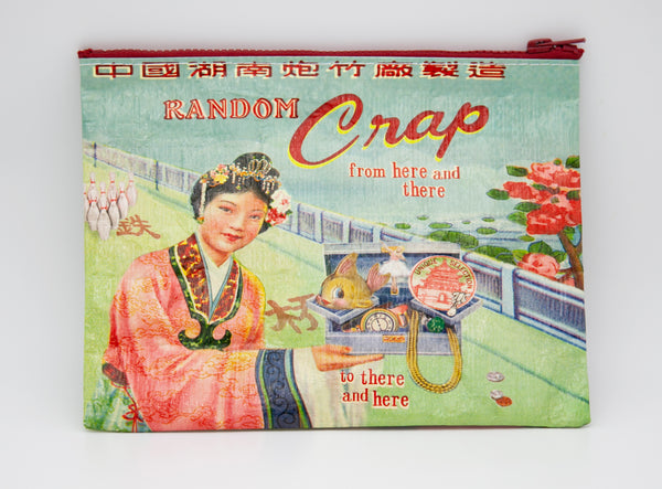 Random Crap - Blue Q Zipper Pouch