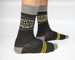 Selective Hearing Specialist - Blue Q Men's Crew Socks