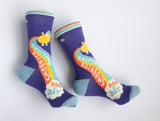 Shitting Rainbows Kind of Day - Blue Q Women's Crew Socks