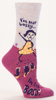I'm Not Bossy, I'm The Boss - Blue Q Women's Crew Socks