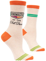 Ringmaster Of The Shitshow - Blue Q Women's Crew Socks