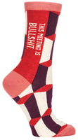 This Meeting is Bullshit - Blue Q Women's Crew Socks