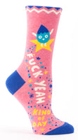 Fuck Yeah Kind Of Day - Blue Q Women's Crew Socks