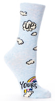 Up Yours - Blue Q Women's Crew Socks