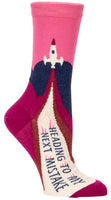 Heading To My Next Mistake - Blue Q Women's Crew Sock