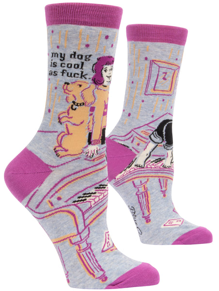 My Dog Is Cool As Fuck - Blue Q Women's Crew Socks