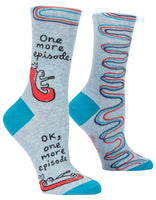 One More Episode - Blue Q Women's Crew Socks
