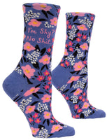 I'm Shy? No Shit  - Blue Q Women's Crew Socks
