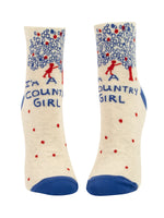 I'm A Country Girl - Blue Q Women's Ankle Socks