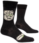Get Shit Done Later - Blue Q Men's Crew Socks