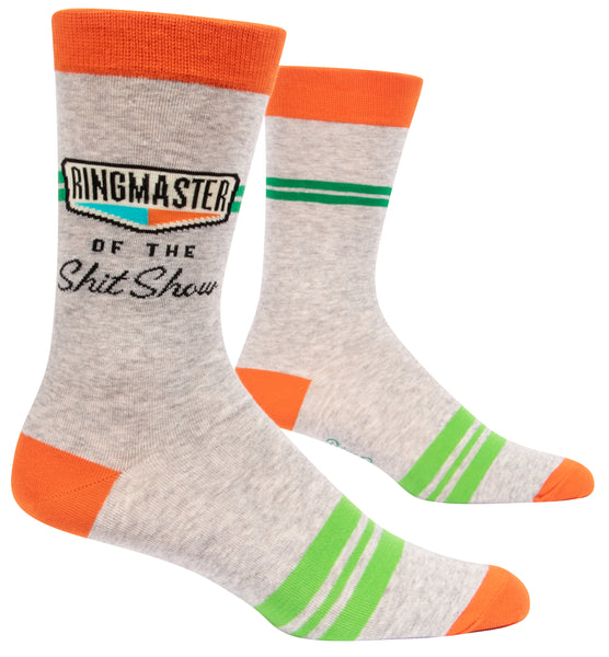 Ringmaster of the Shitshow - Blue Q Men's Crew Socks