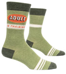 Adult in Training - Blue Q Men's Crew Socks