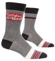 Certified Pain in the Ass - Blue Q Men's Crew Socks