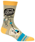 Corn Hole - Blue Q Men's Crew Socks