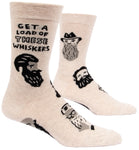 Get A Load Of These Whiskers - Blue Q Men's Crew Socks
