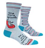 One More Episode - Blue Q Men's Crew Socks
