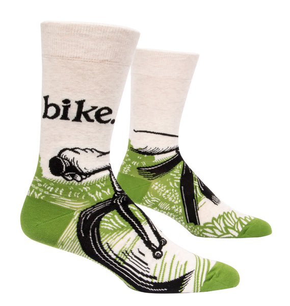 Bike Path - Blue Q Men's Crew Socks
