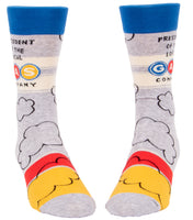 President Of The Local Gas Company - Blue Q Men's Crew Socks