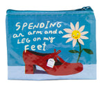Spending Arm & Leg - Blue Q Coin Purse