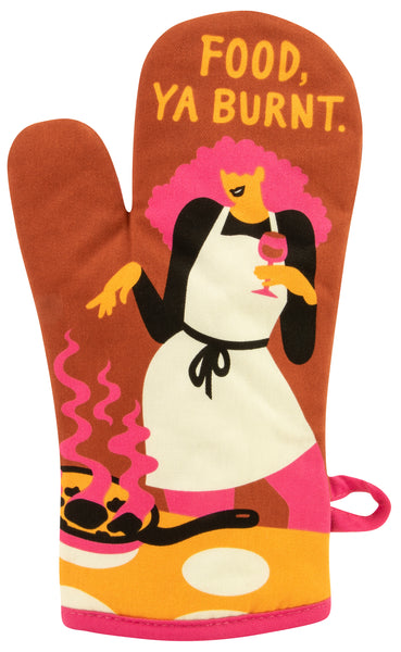 Food, Ya Burnt - Blue Q Oven Mitt