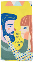 Your Turn To Clean Up - Blue Q Dish Towel