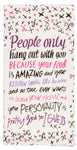 Your Food Is Amazing - Blue Q Dish Towel