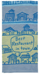 Best Restaurant In Town - Blue Q Dish Towel