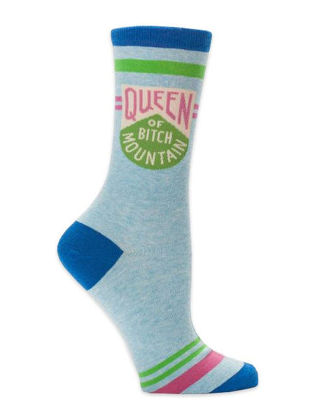 Queen Of Bitch Mountain - Blue Q Women's Crew Socks