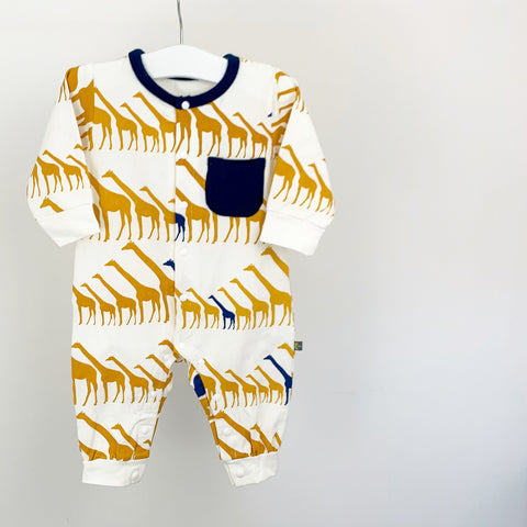 Giraffe printed romper for boys