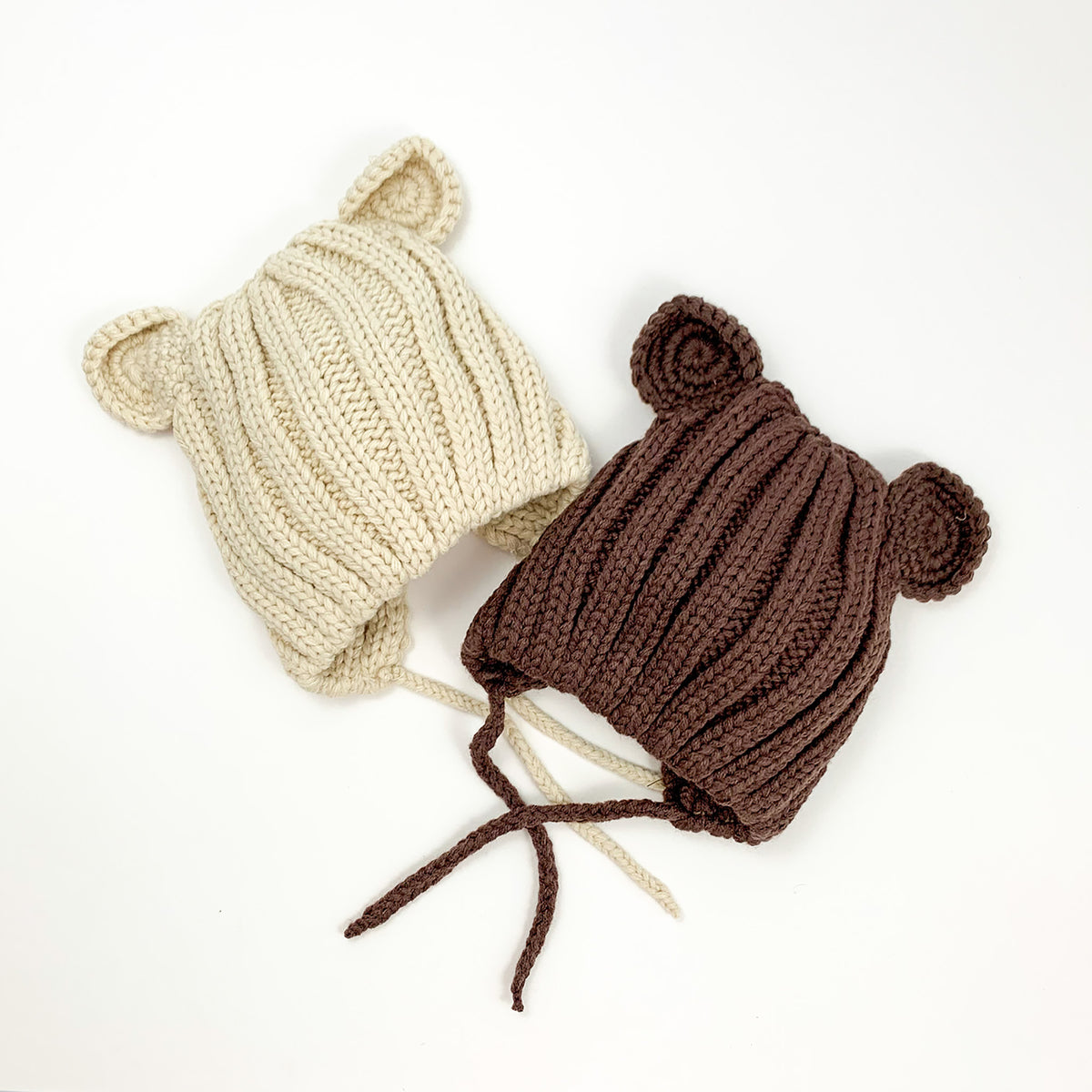 Toddler baby bear hat, chunky knitted style to keep those little heads and ears warm
