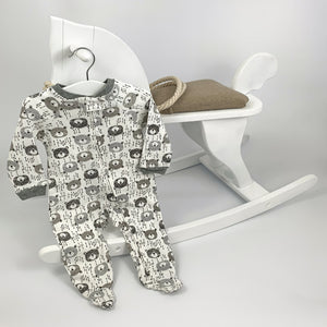 Baby boys sleep suit, baby grow. Super comfy with a bear print.
