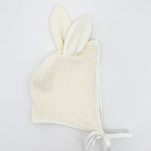 Load image into Gallery viewer, Boys bunny hat, girls bunny hat. Bunny ear hat to match the romper, making a totally cute bunny outfit for babies and toddlers. Baby bunny outfit for girls and boys.