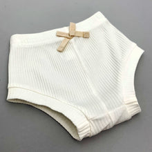 Load image into Gallery viewer, Baby girl shorts/ bloomers that complete our summer set. Lightweight ribbed cotton blend fabric is perfect for summer. Baby summer clothes.