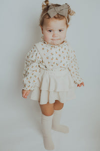 Girls Frilly Bloomers Set- Mocha Floral