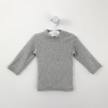 Load image into Gallery viewer, Baby boys longline sweater available in 0-24 months. Supersoft long sleeve sweater for babies and toddlers. Stylish little sweater perfect for everyday. Boys sweater in grey marl.