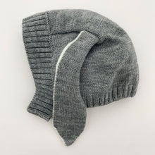 Load image into Gallery viewer, Our super cute knitted hat has the sweetest long bunny ears making it super cute. Perfect winter hat for baby boys.