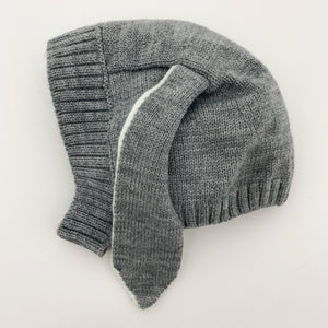 Our super cute knitted hat has the sweetest long bunny ears making it super cute. Perfect winter hat for baby boys.