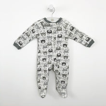 Load image into Gallery viewer, Baby boys sleep suit, baby grow. Super comfy with a cute moustache print.