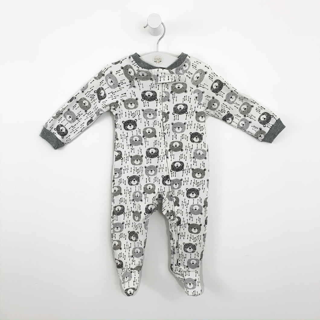 Baby boys sleep suit, baby grow. Super comfy with a cute moustache print.