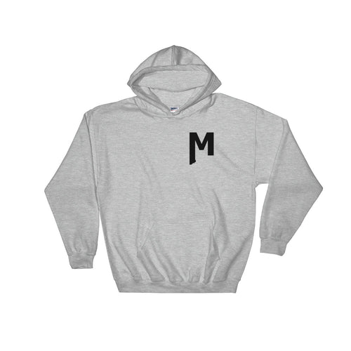 Montana Goods hoodie with MT M emblem screenprinted