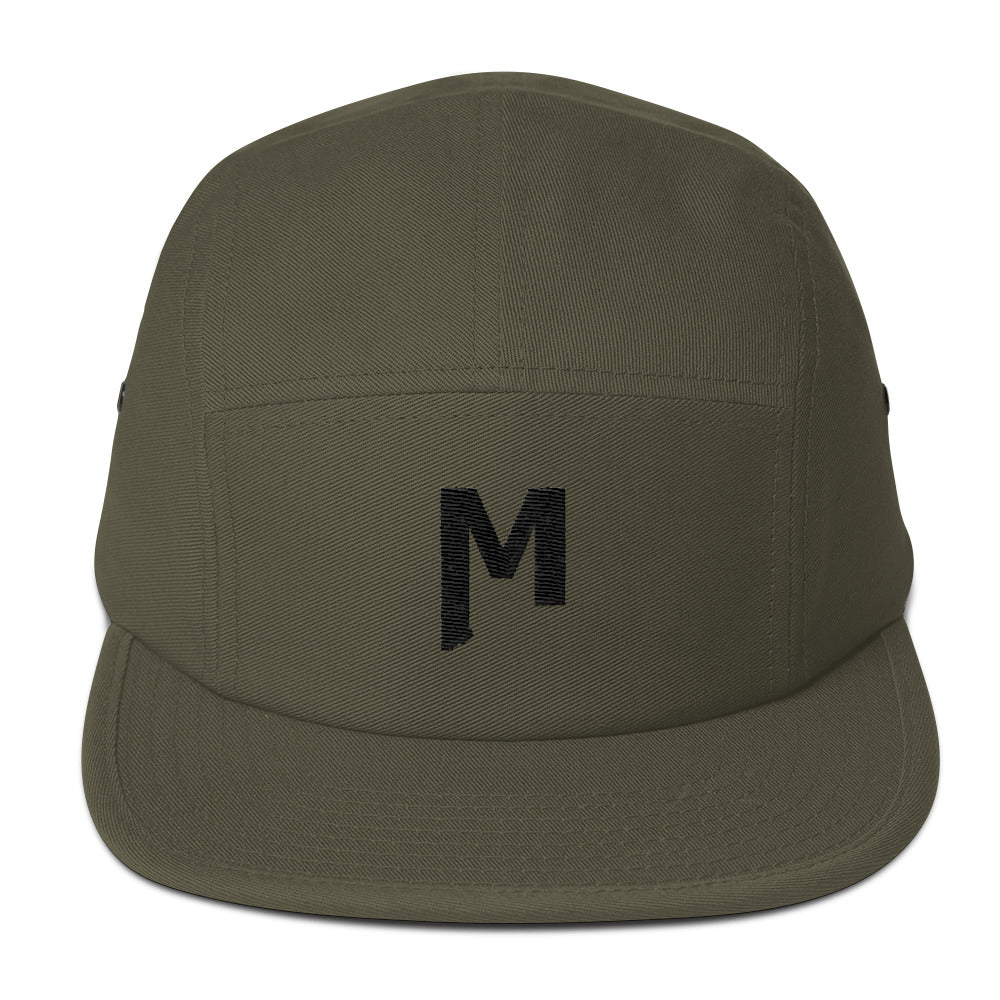 Montana M embroidered olive 5 panel camp cap