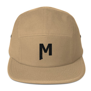 Montana M embroidered khaki 5 panel camp cap