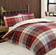 The Lomond Red Check Bed Set (100% Brushed Cotton)