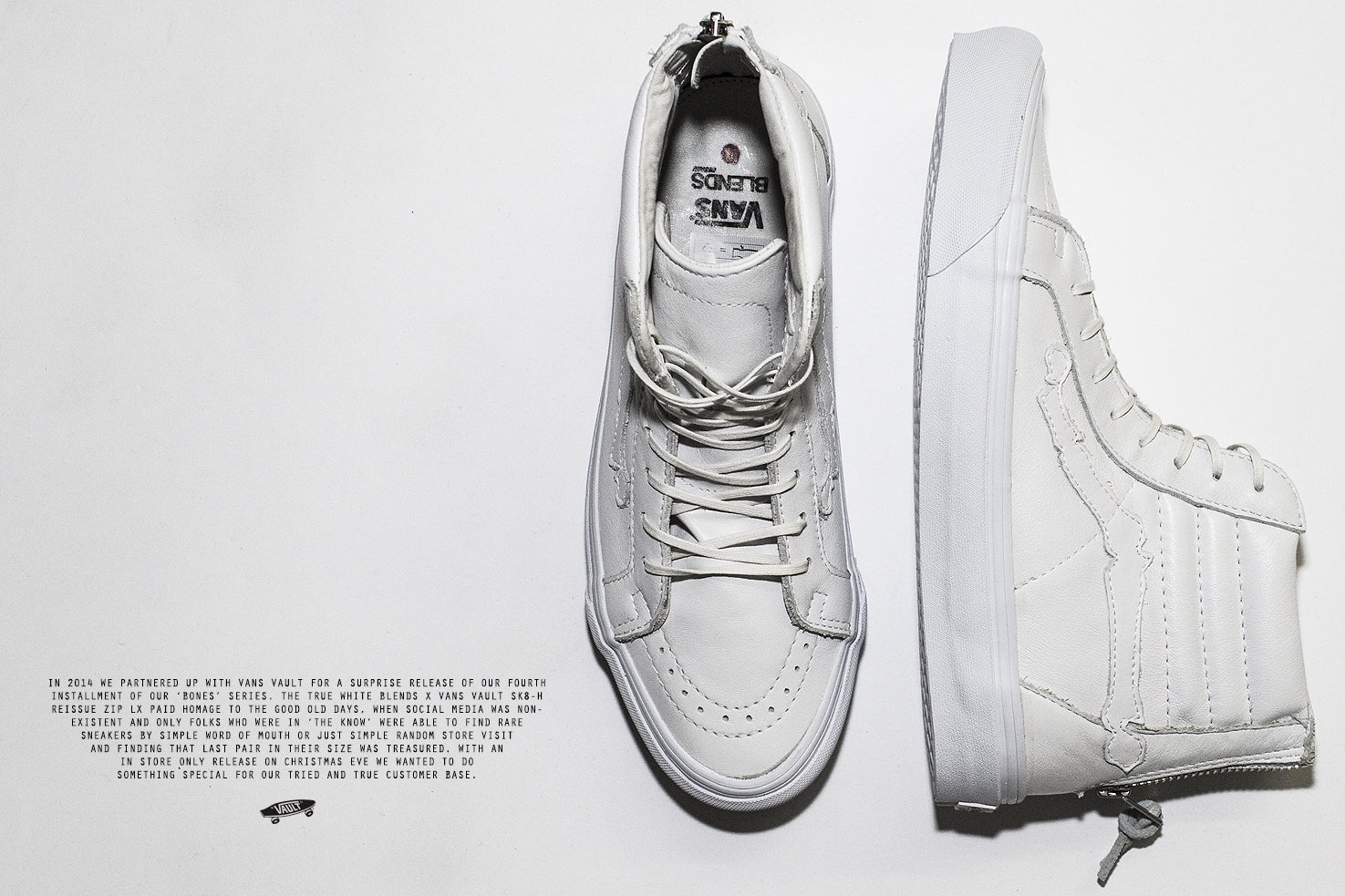 Vans Vault x Blends Sk8-Hi Reissue Zip LX 'True White'