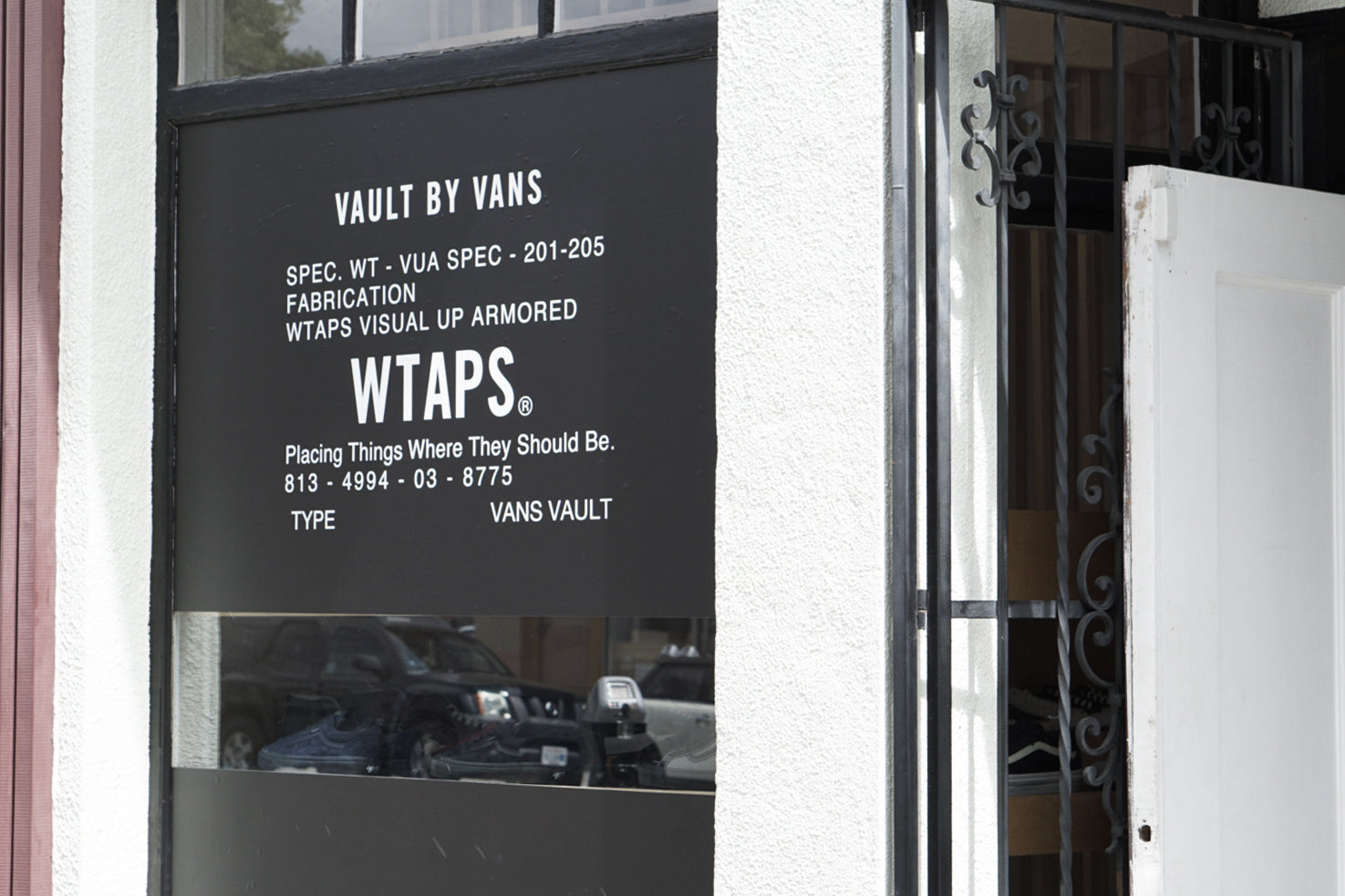 Vault By Vans X Wtaps Window Installation Blends San Diego